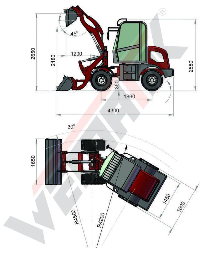 Radlader 809 - 800kg Hubkraft