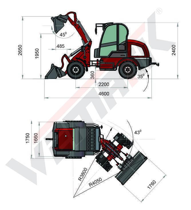 Radlader 812 - 1200 kg Hubkraft