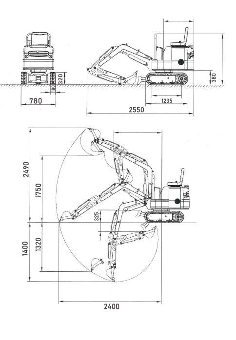 Minibagger Marla 120